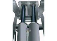 Double hydraulic system - Double volumetric cylinder under each platform
